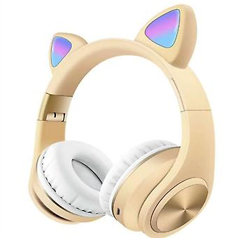 Cat ear bluetooth wireless light headset