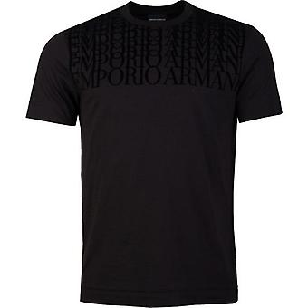 Armani Repeat Flock Logo T-Shirt