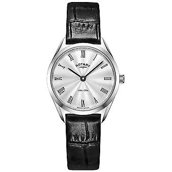 Rotary Ultra Slim Ladies Silver Leather LS08010/01 Watch