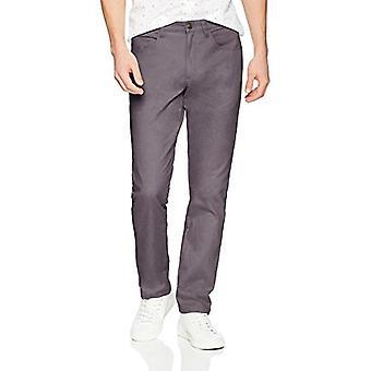 Goodthreads Men's Slim-Fit 5-Pocket Chino Pant, Grey, 36W x 31L