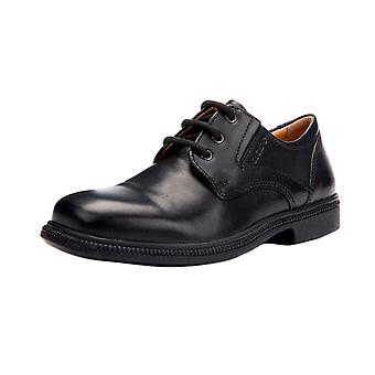Geox J Federico M Boys Leather School Shoes / Lace Up Brogues - Black