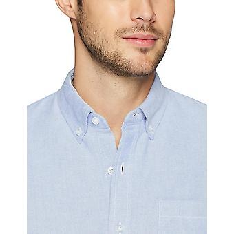 Goodthreads Men's Slim-Fit Short-Sleeve Solid Oxford Shirt with Pocket, Blue,...