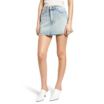 Hudson   Frayed Cotton Denim Skirt