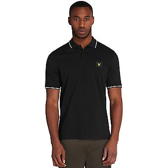 Lyle & Scott Casuals Tipped Polo Shirt - Jet Black