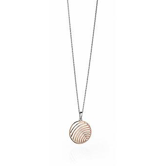 Fiorelli Silver Rose Gold Cut Out Wire Medal Pendant P4400