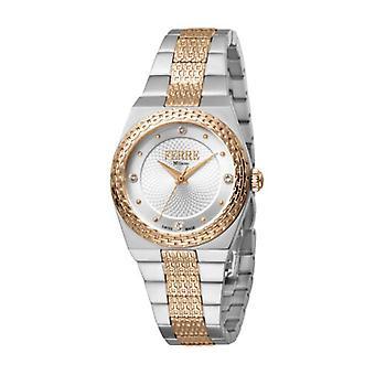 Ferre Milano Women's FM1L091M0051 Silver Dial Stainless Steel IP Wristwatch