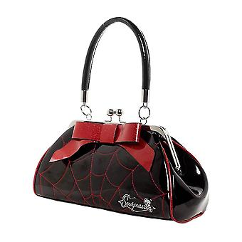 Sourpuss Spiderweb Floozy rote Handtasche