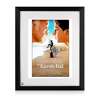Ralph Macchio ondertekend Karate Kid Poster. Framed