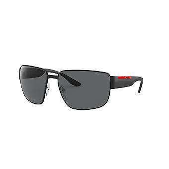Prada Sport Linea Rossa SPS56V 1BO/02G Matta musta/polarisoitu tummanharmaat aurinkolasit