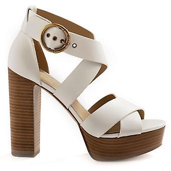 Michael Kors Leia Weiße Sandalen mit High Heel und Plateau