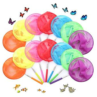 Kids Fishing Net Rainbow Telescopic Butterfly, Insect Catching Nets