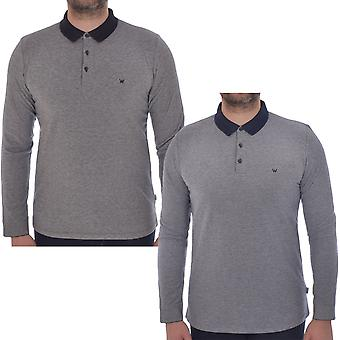 Wrangler Mens Refined Long Sleeve Casual Cotton Tee Top T-shirt Polo Shirt