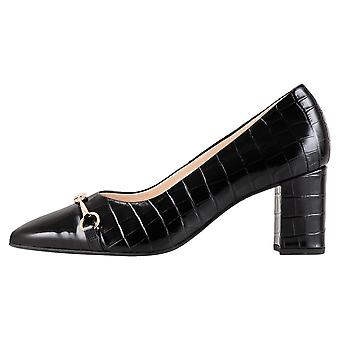 Högl 0-10 5044 Romy Retro Leather Pumps In Black Croc