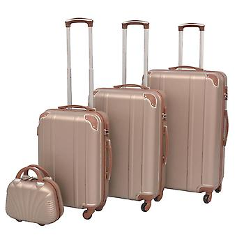 Four-piece hard-shell trolley set Champagne