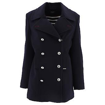 Saint James 5018cc Women's Blue Wool Coat