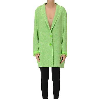 Mouche Ezgl581002 Women's Green Cotton Coat