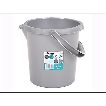 What More Casa Bucket 5L Silver 16875