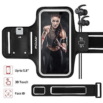 Mpow running armband compatible with iphone 11 pro/xs/8/7/6, galaxy s9/s7/s6 up to 5.8'', sweatproof