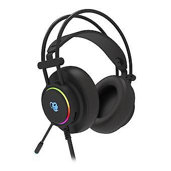 Spelhörlurar med mikrofon CoolBox DG-AUR-01 Svart