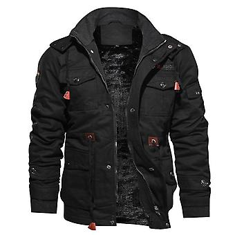 Men's Winter Fleece Inner Coats Thick Warm Casual Parkas Outwear Jackets