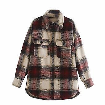 Women Autumn Cotton Blouse Long Sleeve Blouses Button Up Shirt