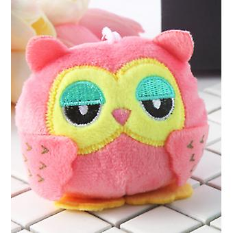 9cm Cute Owl Shape, Stuffed Key Chain-pendentif