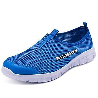 Tênis femininos malha respirável malha plana sapatos casuais
