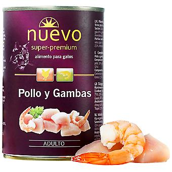 Nuevo Lata Adult Chicken And Prawns (Cats , Cat Food , Wet Food)