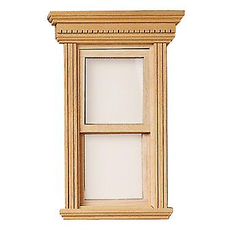 Dolls House York Town Non-working Window Miniature Diy 1:12 Scale Wooden