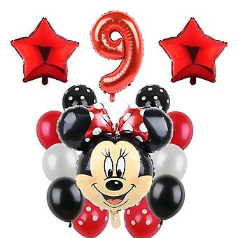 14pc Mikcey Minnie Party Balloons