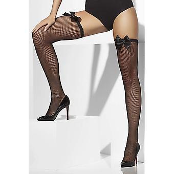 Smiffys 42745 Frauen ausgefallene Kleid Strümpfe in Netz, schwarz, eine Größe passt am meisten