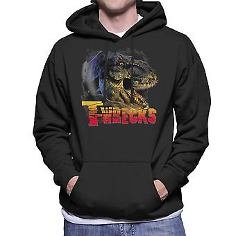 Jurassic Park T Wrecks Men's Hooded Sweatshirt