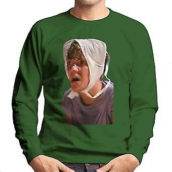Weird Science Gary med bh på huvudet Män & apos, s Sweatshirt