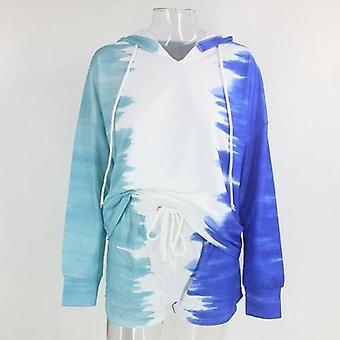 Tie-dye drukowane bluzy z długim rękawem i szorty
