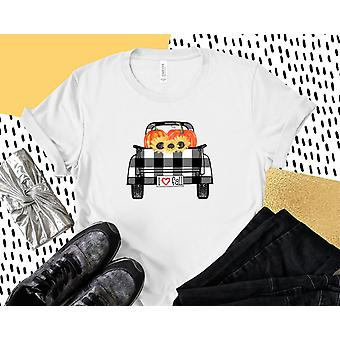 I Love Fall Plaid Truck Tee