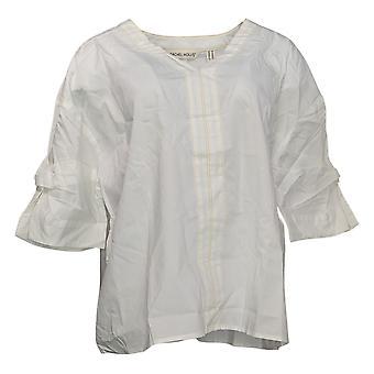 Rachel Hollis Ltd Women's Top Regular Woven With Sleeve Detail A354065