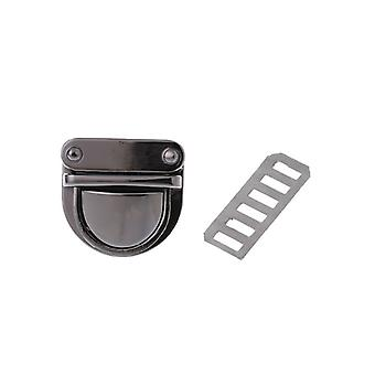 Metal Lock Round Rectangle Bag Case Buckle Clasp