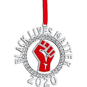 Klikel christmas ornament 2020 - blm ornament - black lives matter - silver christmas ornament - blm ornament for christmas tree- blm ps56487