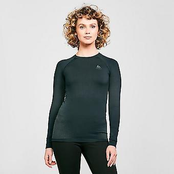 New ODLO Women's Performance Warm Long Sleeve Base Layer Top Black