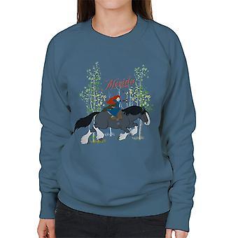 Pixar Brave Merida And Angus Women's Sweatshirt