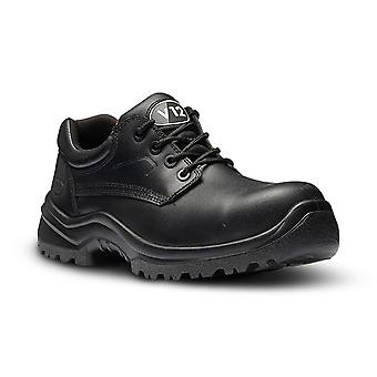 V12 Footwear V6411.01/08 Oxen Black Metal Free 4-Eyelet Shoe  Size 8