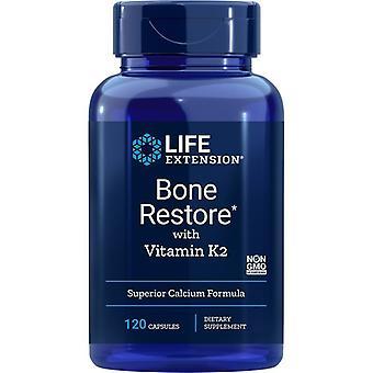 Restauração óssea de extensão de vida com tampas de vitamina K2 120