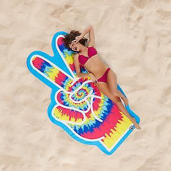 Bigmouth gigantic peace fingers beach blanket