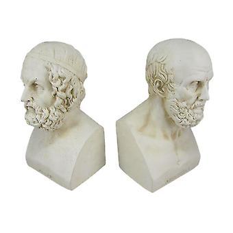 Аристотель и бюст Гомера форзацы греческой философии