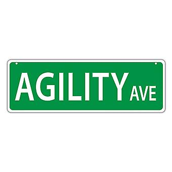 "Street Sign, Plastic, Agility Dog Avenue, 17"" X 6"""