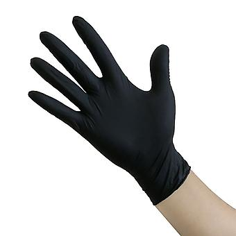 100pcs Negru Guantes latex mănuși