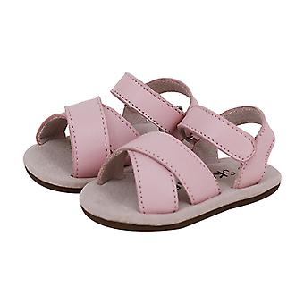 SKEANIE Baby & Toddler Leather Cross Sandals Pink