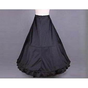 Black Hoop Long Petticoat, Crinoline Ball Gown Underskirt