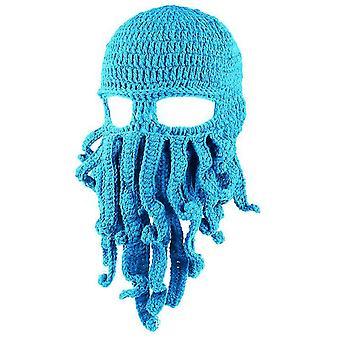 Sky zelená chobotnica klobúk legrační maskované ručne vyrábané háčkované vlnené teplý klobúk az9443