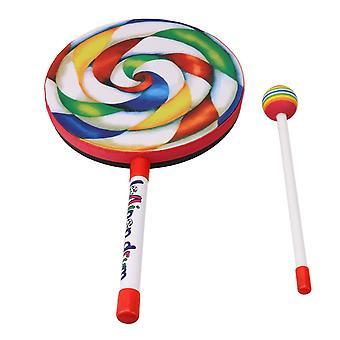 Для леденца Барабан Образовательные игрушки для детей и младенцев с молотком 7,9 дюйма WS98